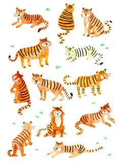 Tigers by Lorna Scobie Más