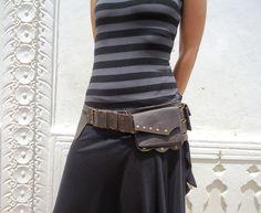 Utility Belt Bag Leather Hip Pocket Belt Ghobi Festival Belt in Brown on Etsy, $112.06 AUD