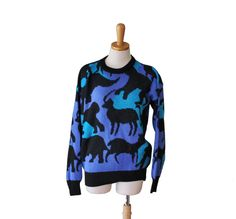 Vintage 80s Zoo Animal Subtle Silhouette by bluebutterflyvintage, $32.00
