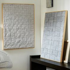 Woven Wall Art #westelm *This is the inspiration for the fabric headboard idea, stretched on a frame, then add outer frame
