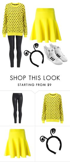 """Bubble bee"" by lauren53103 on Polyvore featuring The Row, Markus Lupfer, adidas, Costume and Bubblebee"