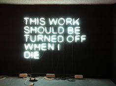 This Work Should Be Turned Off When I Die / Stefan Brüggemann