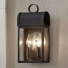 Found it at Wayfair - Milligan Outdoor Wall Lantern Outdoor Barn Lighting, Outdoor Sconces, Outdoor Light Fixtures, Outdoor Wall Lantern, Porch Lighting, Exterior Lighting, Wall Sconce Lighting, Outdoor Walls, Candle Sconces
