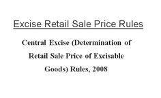 Central Excise Determination of RSP Rules