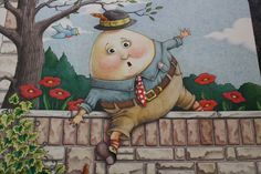 Humpty Dumpty artwork from Mary Englebreit's Nursery Rhyme Book Mary Engelbreit, Illustrations, Graphic Illustration, King Horse, Inspiration Artistique, Easter Egg Designs, Storybook Cottage, Humpty Dumpty, Vintage Nursery