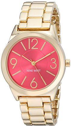 Nine West Reloj NW/1662PKGB reloj para mujer con esfera con acabado rayos de sol color rosa y brazalete en tono dorado. Nine West http://www.amazon.com.mx/dp/B00MFGN4UU/ref=cm_sw_r_pi_dp_xMuLvb03JC68M