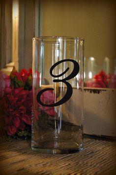 Wedding Table Numbers 1-20 Centerpiece by IslandCustomDesigns