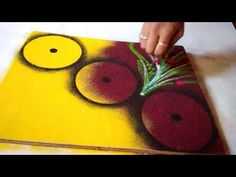 Easy and Beautiful Rangoli design Using CDs - YouTube