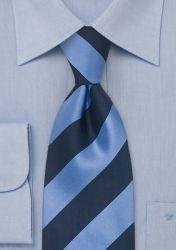 XXL-Krawatte Linien-Dekor eisblau marineblau günstig kaufen
