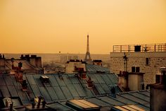 ♥ Paris roof tops (anticipation is the highest form of joy...coming soon...:-)