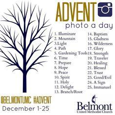 "Advent ""Photo a Day"" visual prayer practice"