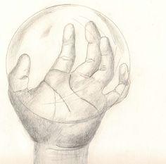 "Dibujo titulado ""Esfera de cristal""."