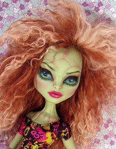 Monster High Gorgon Repaint ~Custom OOAK CAM Doll with Wig Create a Monster #MattelSALE July 6, 2014 EBay