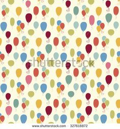 Seamless pattern with colorful baloons. For cards, invitations, wedding or baby shower albums, backgrounds, arts and scrapbooks
