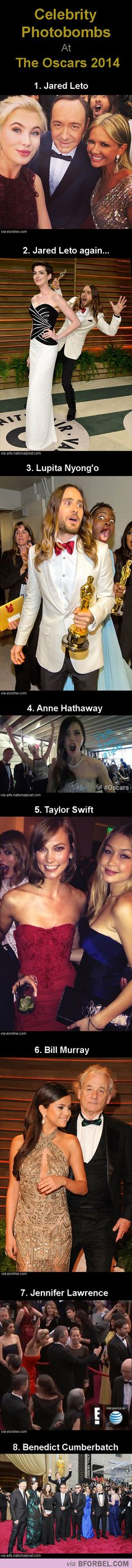 8 Epic Celebrity Photobombs At The Oscars 2014…