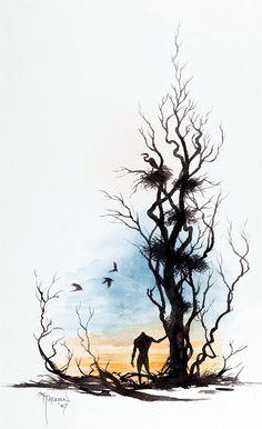 Bernie Wrightson - Swamp Thing | drawing ~ black line ...