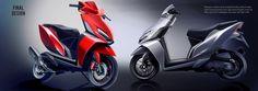 HMSI internship on Behance Auto Design, Automotive Design, Bike Sketch, Scooter Design, Motorcycle Design, Electric Scooter, 1 Month, Scooters, Honda