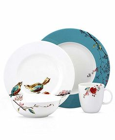 Lenox Simply Fine Dinnerware, Chirp Round 4 Piece Place Setting - Casual Dining - Kitchen - Macy's Bridal and Wedding Registry