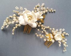 Pearl Bridal hair comb Wedding hair comb Bridal headpiece