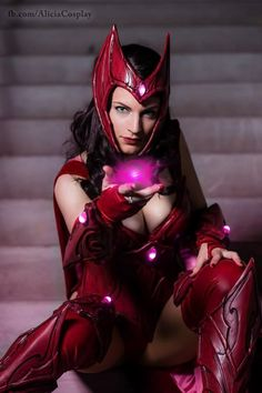 Vert-Vixen's Scarlet Witch Cosplay is Beyond Magical