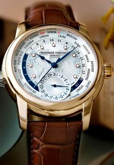 #Frederique Constant World Timer priced at USD 3,450.