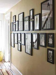 фотографии украсят длиный коридор