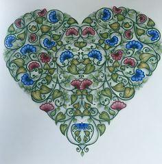 Heart From Johanna Basfords Secret Garden Coloured In Primsacolour Sweet