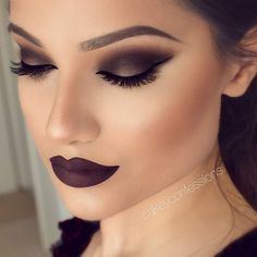 Stunning Aubergine Look With Anastasia Beverly Hills Trust Issues Liquid Lipstick and Motives Cosmetics Eye Shadows!