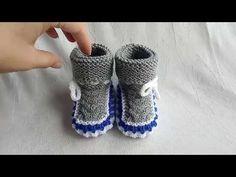 Knitting Socks, Baby Knitting, Crochet Baby, Knit Crochet, Knitting Patterns, Crochet Patterns, Knit Baby Dress, Baby Socks, Baby Booties