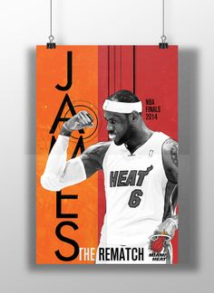 Senior night posters NBA Finals 2014 by Fabri Bandoni, via Behance Mami Heat, Nba, Basketball Design, Behance, Finals, Batman, Baseball Cards, Superhero, Sports