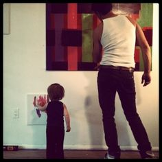 Seth Remsnyder // www.sethremsnyder...  at home studio and painting with my future kids