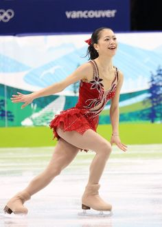 Akiko Suzuki  -Red Figure Skating / Ice Skating dress inspiration for Sk8 Gr8 Designs.