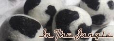 In The Jungle Balls by Nurtured Sew Naturally Wool Dryer Balls, Panda Bear, Sewing, Pets, Nature, Shop, Fabric, Handmade, Tejido