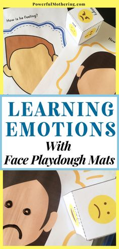 Feeling sad, mad, happy, or excited? Help your child understand feelings and emotions with this super fun yet simple educational activity! Check out the blog for more details on these face playdough mats with the theme - learning emotions. This educational DIY project can surely help understanding emotions be a fun learning experience for your little one! Surely, your kids will love it. Understanding Emotions, Feelings And Emotions, Educational Activities, Fun Activities, Diy Projects Cans, Feeling Sad, Fun Learning, Parenting, Face