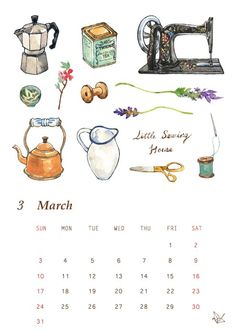 Paint Calendar, 9 And 10, Sewing, Dressmaking, Couture, Stitching, Sew, Costura, Needlework