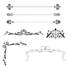 飾り罫、飾り枠サンプル