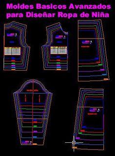 moldes basicos de diseño de ropa de niña Smocking Patterns, Sewing Patterns, Fashion Vocabulary, Baby Sewing, Pattern Making, Diy Clothes, Baby Dress, Diy And Crafts, Kids Fashion