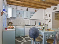 Naousa villa rental - NEW April kitchen Sleeps 6 Greece, Villa, Bed, Kitchen, House, Furniture, Home Decor, Greece Country, Cooking