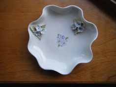 SALE Vintage Italian Capidomonte Floral Bowl or Tray by gammiannes, $8.00