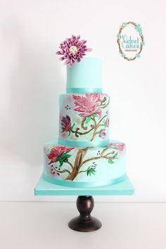 Dhalia Hand Painted Cake - Cake by The Velvet Cakes