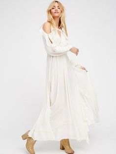 platinum-finds ~ Products ~ Free People The Huxley Maxi M Ivory / Gold ~ Shopify