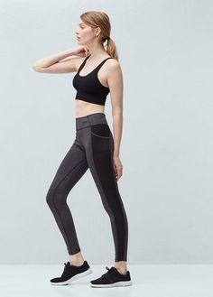 Fitness & running - leggings efecto reductor   MANGO