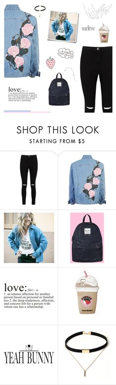 """""""Coffee Makes Me Awesome"""" by paradiselemonade ❤ liked on Polyvore featuring Boohoo, Yeah Bunny, WALL, tumblr and YeahBunny"""