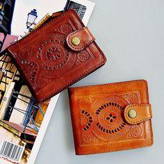 Omega men women wallet slim wallet handmade wallet genuine leather by Astaboho on Etsy