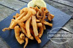 Rabas de magano (calamares fritos o a la romana)