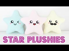 DIY Easy Kawaii Star Plush Pillows - Easy Room Decor & Gift Idea, My Crafts and DIY Projects