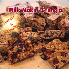 Wise Momma's Kitchen : Lactation Granola Bars (Dairy free)