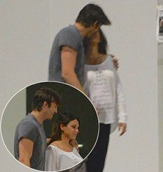 Mila Kunis, Ashton Kutcher Share Romantic Kiss After Dinner Date: Pics - Us Weekly