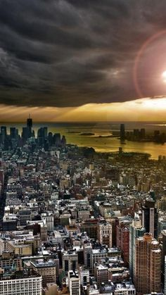 Manhattan, Sunset, New York, United States,