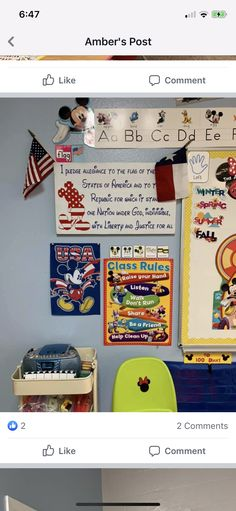 Mickey Mouse Classroom, I Pledge Allegiance, Class Rules, Raise Your Hand, First Nations, Liberty, Flag, Political Freedom, Freedom